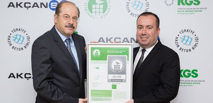 First concrete and cement CSC certificates issued in Turkey