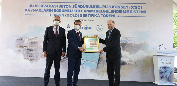 Handover ceremony of the CSC certificate for ISTON Hadımköy Plant in Turkey